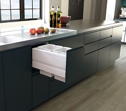 Designer Kitchen Bin Pull Out 350mm