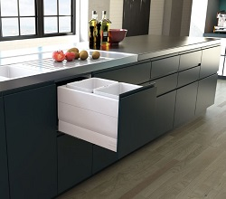 Designer Kitchen Bin Pull Out 400mm