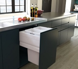 Designer Kitchen Bin Pull Out 600mm