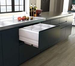 Designer Kitchen Bin Pull Out 800mm