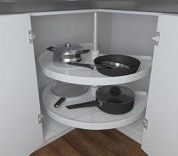 270° Revolving Corner Unit - Plastic Shelves