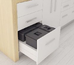 Kitchen Bin Pull Out - Drawer Fitted