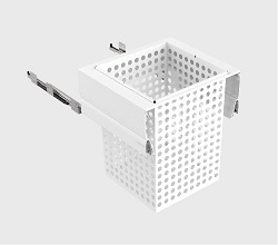 600mm Cab - 1x100L Steel Basket