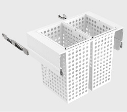 800mm Cab - 2x65L Steel Baskets