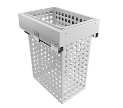 400mm Cab - 1x65L Steel Basket