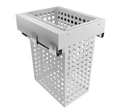 450mm Cab - 1x65L Steel Basket